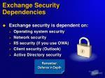 exchange security dependencies