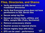 files directories and shares
