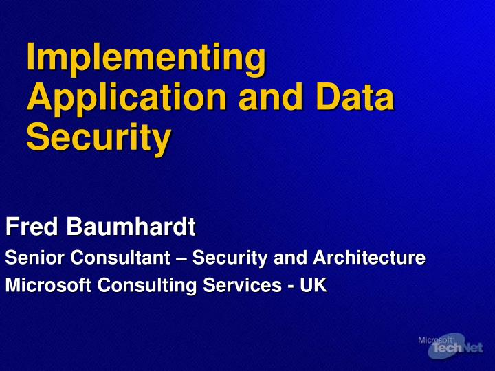 implementing application and data security n.