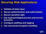 securing web applications