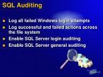 sql auditing