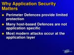 why application security matters