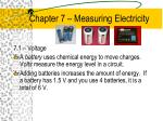 chapter 7 measuring electricity