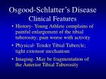 osgood schlatter s disease clinical features