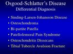 osgood schlatter s disease differential diagnosis