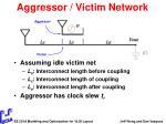 aggressor victim network