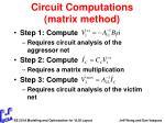 circuit computations matrix method