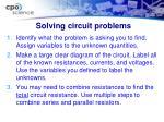 solving circuit problems