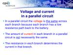 voltage and current in a parallel circuit