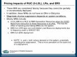 pricing impacts of ruc 0 lsl lrs and ers