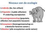 niveaus van de ecologie