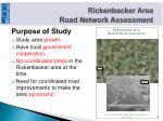 rickenbacker area road network assessment