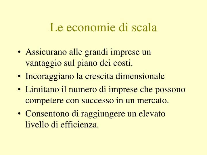 Le economie di scala