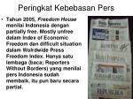peringkat kebebasan pers