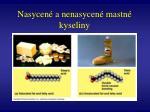 nasycen a nenasycen mastn kyseliny1
