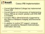 coeus irb implementation