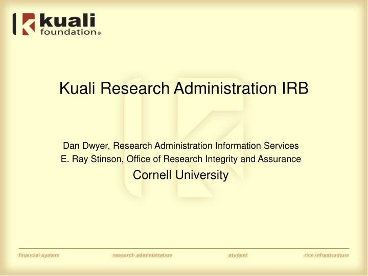 kuali research administration irb n.