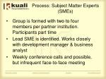 process subject matter experts smes