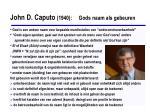 john d caputo 1940 gods naam als gebeuren