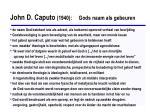 john d caputo 1940 gods naam als gebeuren1