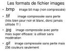 les formats de fichier images