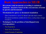 basic approaches to mlir