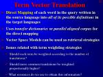 term vector translation