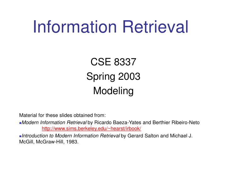 information retrieval n.