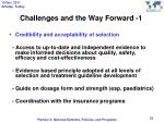 challenges and the way forward 1