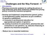 challenges and the way forward 4