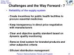 challenges and the way forward 7