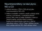 neurotransmittery na b zi plyn no a co