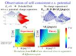 observation of self consistent e s potential