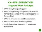 cn implementation support work packages