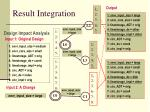 result integration