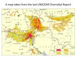 a map taken from the last unscear chornobyl report