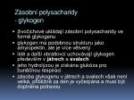z sobn polysacharidy glykogen