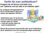 varf r f r man antibiotikum
