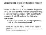 constrained visibility representation 2