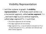 visibility representation