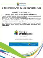 2 fonctionnalites du logiciel workspace