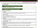 2 comparison of the audit supervisory board and the audit committee