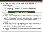 4 who are the audit supervisory board members