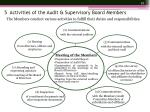 5 activities of the audit supervisory board members1