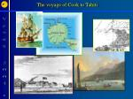 the voyage of cook to tahiti