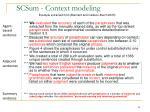 scsum context modeling