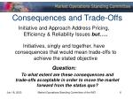 consequences and trade offs