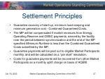 settlement principles
