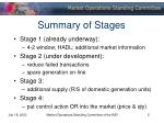 summary of stages