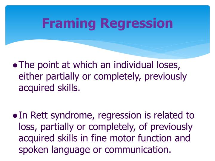 Framing Regression